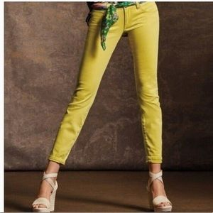CAbi Yellow Slim and Skinny Jeans Style #5064
